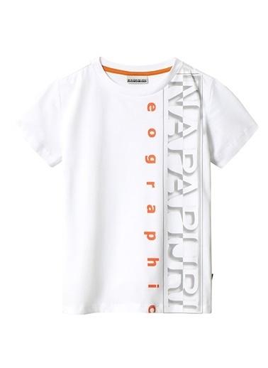 Napapijri Polo Yaka T-shirt Beyaz